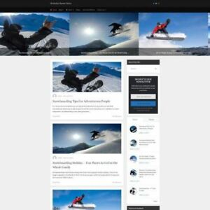 Snowboarding Store Mobile Friendly Responsive Website Business For Sale