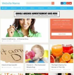 Vitamins Store Mobile Friendly Responsive Website Business For Sale Domain
