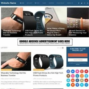 Wearable Tech Store Professionally Designed Affiliate Website For Sale