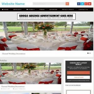 Wedding Store Business Website For Sale Mobile Friendly Responsive Design