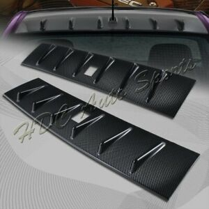 For 2008 2016 Mitsubishi Lancer Evo X Real Carbon Shark Rear Roof Spoiler Wing