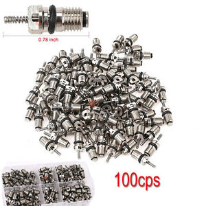 100x Valve Core Auto Air Conditioning Hvac Repair Tool For R12 R134a Honda Toyot
