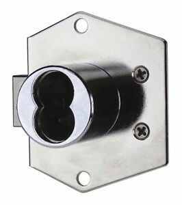 Ccl Interchangeable Core Cabinet Dead Bolt Brushed Chrome 72723