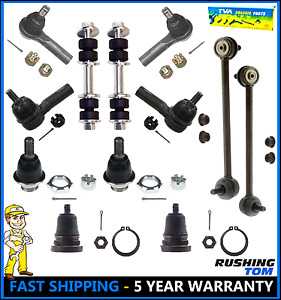 Front Rear Steering Kit Ball Joint Tie Rod Sway Bars For 2000 2004 Nissan Xterra