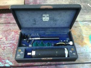 Rare Vintage Ww2 Welch Allyn Military Hospital Otoscope Set In Box