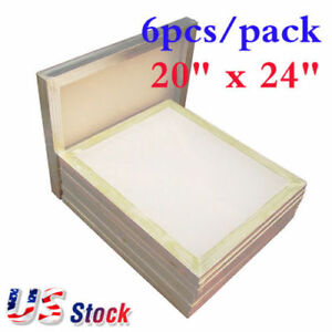 Usa Stock 6pack 20 X 24 Aluminum Frame Screen Printing Screens With 160 Mesh