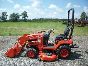 2014 Kubota Bx2370 Tractor W Front Loader 4wd 60in Belly Mower Hydro 58hrs