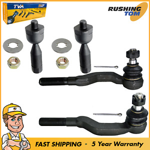 4 New Tie Rod Ends Inner Outer Steering Kit 1995 2003 Tacoma Toyota 4wd Rwd