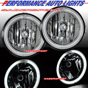 Set Of Pair Chrome Fog Lights W Ccfl Halo Rims For 2005 2009 Ford Mustang Gt