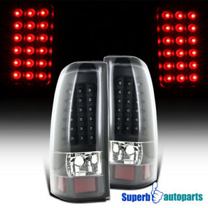 For 2003 2006 Chevy Silverado 1500 2500 Led Tail Lights Brake Lamps Black