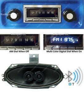 1967 1972 Chevy Gmc Truck Bluetooth Radio Stereo Dash Speaker With Ac 740 gm