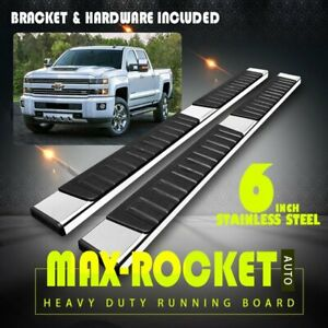 Fit 2015 2021 Ford F150 Super Crew Cab 6 Running Board Side Step Nerf Bar S s H