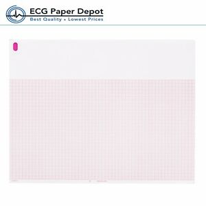 Burdick 007868 Ecg Ekg Paper Thermal Recording Chart Red 25 Pack X 200 Sh
