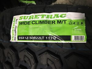 4 New 35 12 50 22 Wide Climber Mt2 Tires Mud Light Truck 10 Ply 35x12 50 22