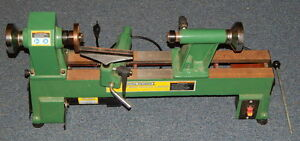 Central Machinery 10 X 18 Mini Wood Lathe Working 5 Speed