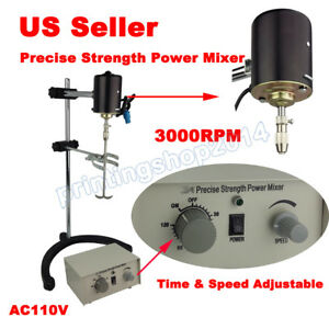 Lab Electric Overhead Stirrer Mixer Variable Speed 110v 3000rpm 60w