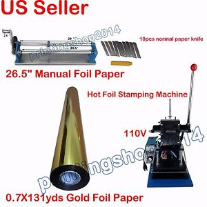 Brand New Hot Foil Stamping Kits Home Business For Diy Gift Press Printing