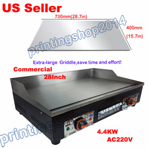 28 Commercial Electric Grill Griddle Dorayaki Teppanyaki Machine 220v 4 4kw