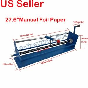 New Style Heavy Duty 27 6 manual Foil Paper Cutter Hot Stamping Rolls Slitter