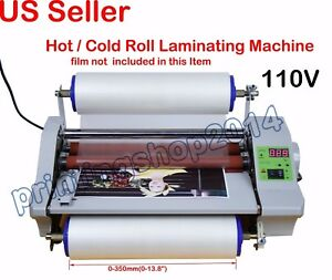 110v Hot Thermal Laminator Machine With Digital Control 14 High Speed