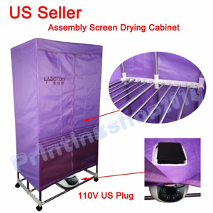 Simple Screens Drying Cabinet Assembly Folding For Silk Screen Printing Dryer