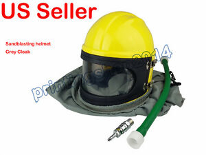 New Abs Materi Sand Blasting Helmet Cloak Style Painting Safety Air Tube
