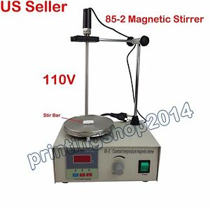 85 2 Magnetic Stirrer With Hot Plate Digital Thermostat Heating Mixer 110v