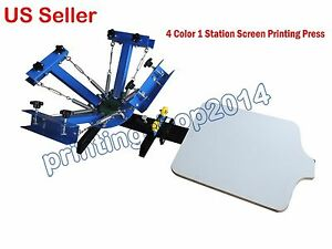 4 Color 1 Station Screen Printing Press Diy T shirt Processing Machine