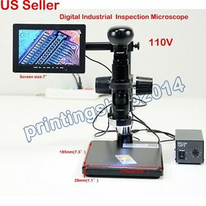 Digital Electric Industrial Inspection Manual Zoom Video Microscope Amplify 110v