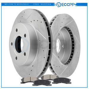 For 1999 2004 Jeep Grand Cherokee Front Brake Rotors And Ceramic Pads Kit