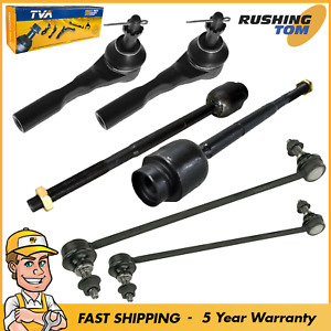 Front Outer Inner Tie Rod Ends Sway Bar End Links Fits Malibu Maxx G6 Aura