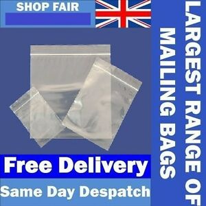 Grip Seal Bags Resealable Grip Poly Grip Clear Plastic Zip Lock Free Post To Eu