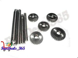 5 Pcs Valve Seat Face Cutter Set Automotive Industrial Tool Heavy Duty