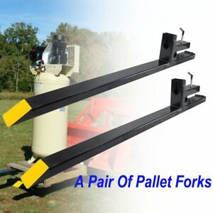 Pro 43 Skidsteer Clamp On Pallet Fork Attachment 3000lb Capacity Bucket Tractor