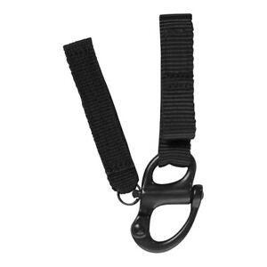 Fusion Tactical Police Patrol Belt Keeper Keychain Shackle Strap 1 Black