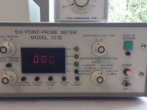 Six Point Probe Meter Model 101d Made By Four Dimensions Usa Used Powered On