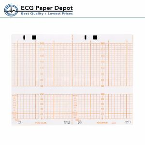 Hp philips Ecg Recording Paper Ekg Printing Chart M1910a Red 40 Pack Size 150x49