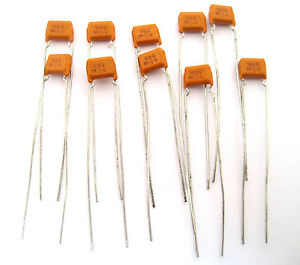 68uf 50v Monolithic Ceramic Capacitors Lots Of 10 Very Nice Small Capacitors