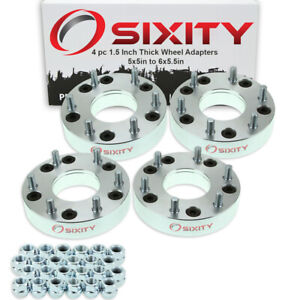 4pc 1 5 5x5 To 6x5 5 Wheel Spacers Adapters For Pickup Truck Suv Thick Jd