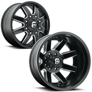 Set Of 6 Fuel D538 Maverick Dually 22x8 25 8x200 4 5 Gap Wheels Rims With Lugs