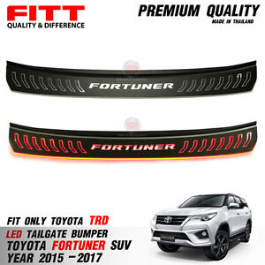 Fitt Led Rear Tailgate Bumper Guard Cover Toyota Fortuner Trd Sportivo 2015 2017
