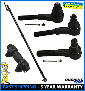 5 Pc Kit Front Inner Outer Tie Rod Drag Link 1991 1995 Jeep Wrangler 4wd 4x4