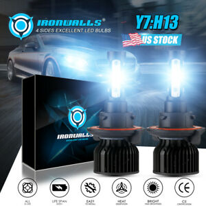 2x H13 9008 Led Headlight Super Bright Bulbs Kit 360000lm White Hi Lo Beam 6000k