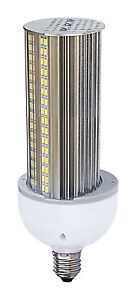 Satco S8906 30w Led Hid White Light Bulb Medium Base 120 277v 3000k High Lumen