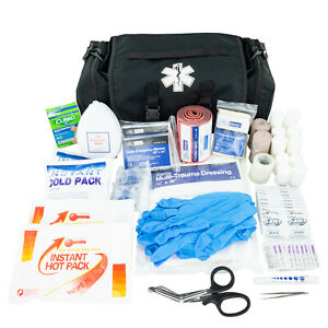 Line2design Trauma Kit Emergency Medical Supplies Paramedic First Aid Bag Black