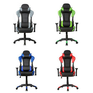 Office 360 Degree Ergonomic High Back Racing Style Gaming Chair Swivel 5 Wheels