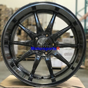 Xxr 527d Wheels 20 X 9 10 5 Chromium Black Deep Dish Lip Rims Staggered 5x4 5