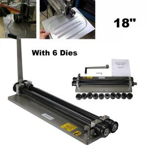 18 Inch Sheet Metal Bead Roller Rolling Tool W Dies Kit Heavy Duty