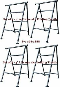 Set Of 4 4 A Frame Aka Folding Trestle For Masonry Contractor Work Cbmscaffold