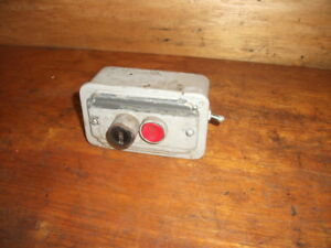 South Bend Drill Press Push Button Switch Vintage Cutler Hammer